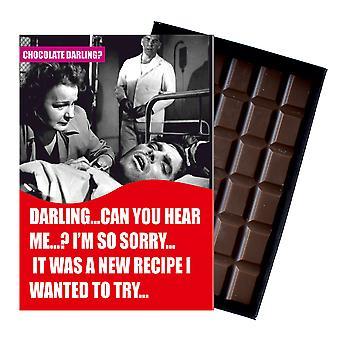 Få bra snart present till män Silly boxed choklad gratulationskort present till man CDL117 Oncocoa
