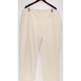 Denim & Co. Women's Petite Pants 1XP Active French Terry Contour Beige A277398
