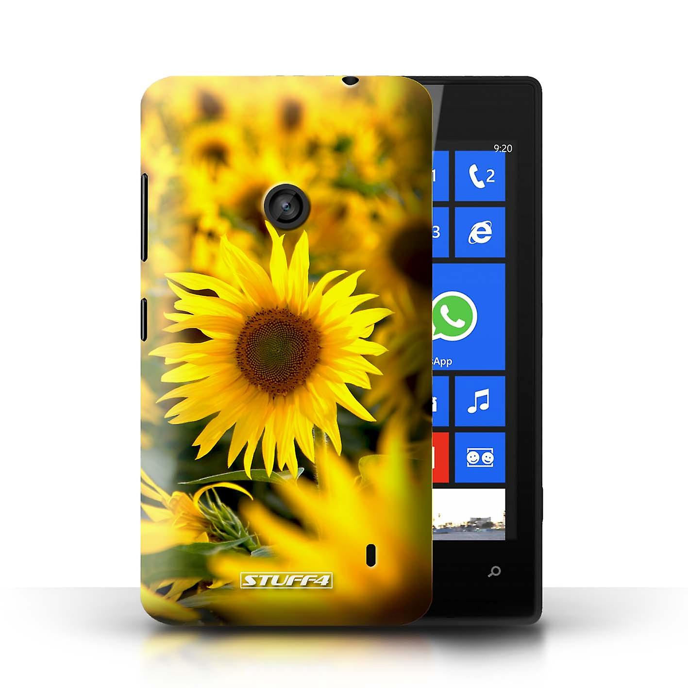 STUFF4 Case/Cover For Nokia Lumia 520/Flower Fields/Floral