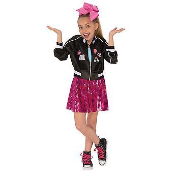 Jojo Siwa YouTube Star Celebrity Dancer Singer Zip Up Black Jacket Girls Costume