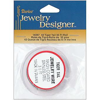 Tiger Tail Jewelry Wire 30Ft Pkg Silver 18267