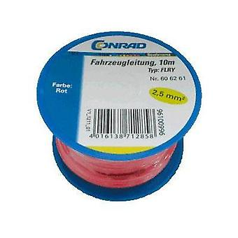 Automotive wire FLRY-B 1 x 2.50 mm² Red Conrad Components 606261 10 m