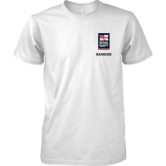 RN Kayaking Logo 2 - Royal Navy Sports T-Shirt Colour