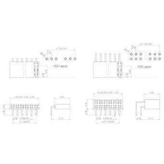 Receptacles (standard) No. of rows: 1 Pins per row: 14 W & P Products 159-14-1-00 1 pc(s)
