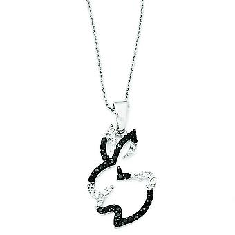 Sterling Silver CZ Bunny Necklace - 18 Inch