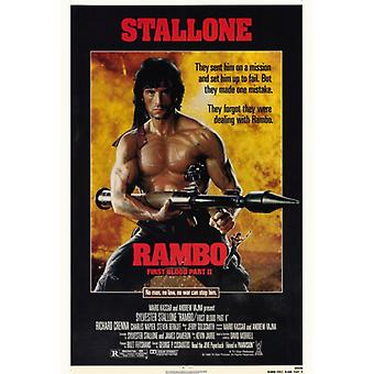 Rambo First Blood Part 2 Movie Poster Print (27 x 40)
