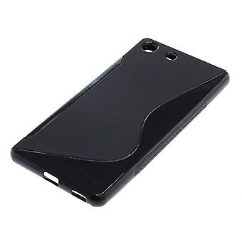 OTB TPU CASE COMPATIBLE TO SONY XPERIA M5 S-CURVE BLACK