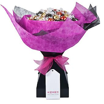 Bouquet de chocolate - rosa fucsia - grande