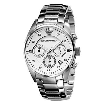 Emporio Armani AR5869 Stainless Steel & White Dial Chronograph Watch