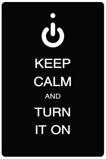 Keep Calm And Turn It On Car Air Freshener
