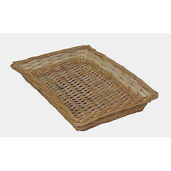 Rectangular Flat Split Willow Wicker Tray