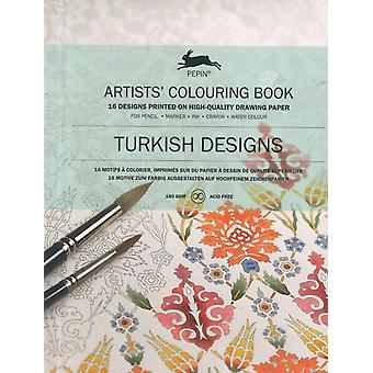 Turkish Designs: Artists' Colouring Book (Artists' Colouring Books) (Paperback) by Roojen Pepin Van