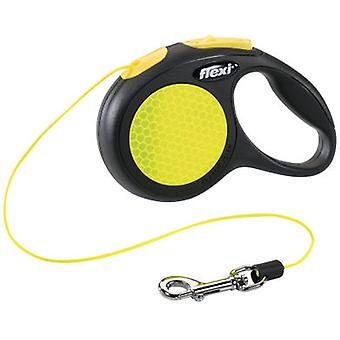 Flexi Correa Xs reflext New Classic Neon Cord 3M (Dogs , Walking Accessories , Leads)