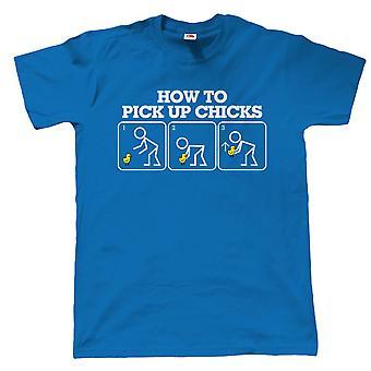 Gewusst wie: abholen Küken, Mens lustige T Shirt