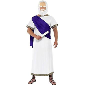 Socrates philosopher Greeks costume 2-piece thinkers Carnival