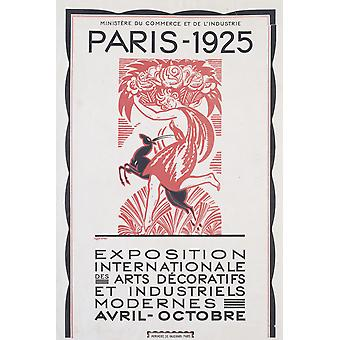 The 1925 Paris Exhibition Poster Print Giclee