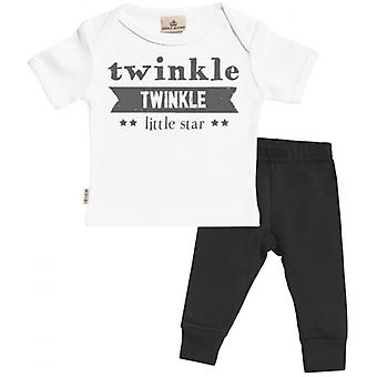 Spoilt Rotten Twinkle Twinkle Little Star T-Shirt & Jersey Trousers Outfit Set