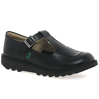 Kickers Kick T Girls Junior School Shoes