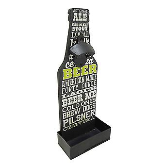 Modern Home Wall Mounted Bottle Opened w/Cap Catcher - Chalk Beer