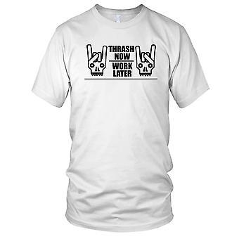 Werk nu Thrash Later metalen Mens T Shirt