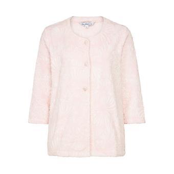 Slenderella BJ7305 Women's Pink Floral Robe Bedjacket