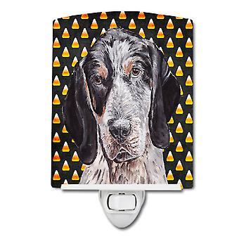 Blue Tick Coonhound Candy Corn Halloween Ceramic Night Light