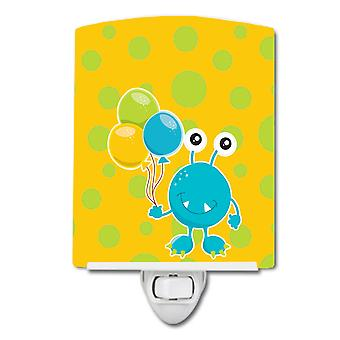 Birthday Monster with Balloons Ceramic Night Light