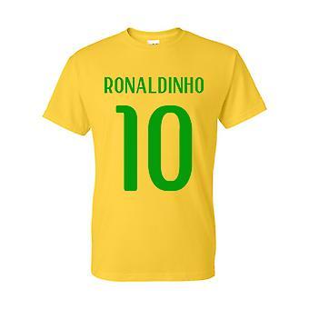 Ronaldinho Brazilië Hero T-shirt (geel)