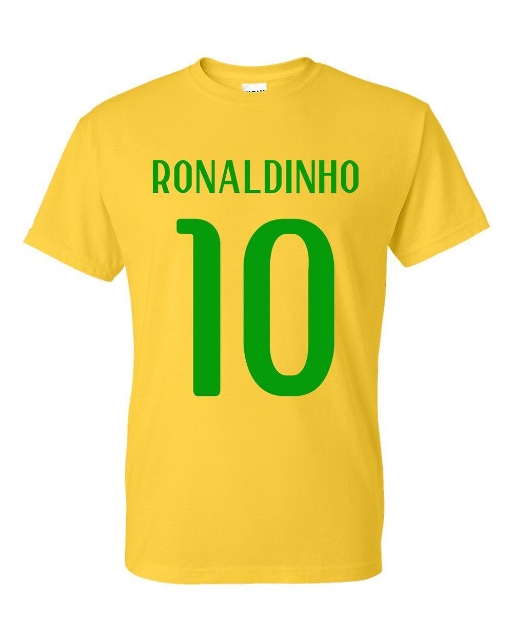 Ronaldinho Brasil Héroe T-shirt (amarillo)