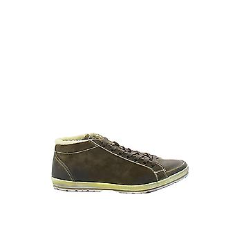 Car shoe men's KUT4623AHQF0JZZ brown leather of sneakers