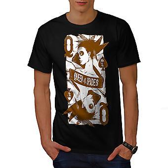 Queen Of Spades Men BlackT-shirt | Wellcoda