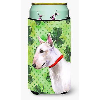 Bull Terrier St Patrick's Tall Boy Beverage Insulator Hugger