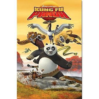 Kung Fu Panda - Kick Poster afdrukken