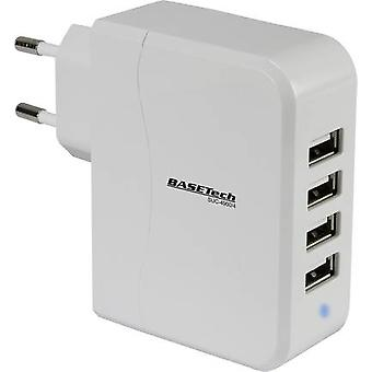 USB charger Mains socket Basetech SUC-4900/4 Max. output current 4900 mA 4 x USB