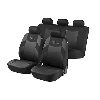 Elegance Car Seat Cover For Grey &, Black For Skoda Fabia Saloon 1999 to 2007