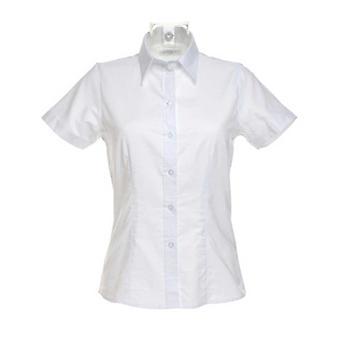 Kustom Kit Womens Workwear Oxford Short Sleeve Blouse