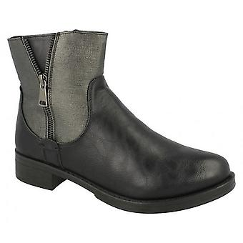 Spot On Womens/Ladies Mid Heel Ankle Boots