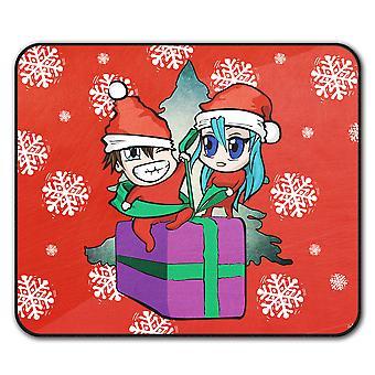 Эльф подарок любовь Рождество нескользящей мат мышь 24 x 20 см   Wellcoda