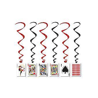 Spillekort hvirvel dekoration
