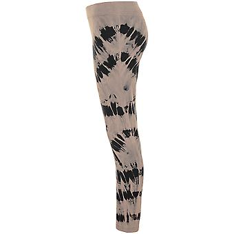 Urban classics ladies leggings acid wash splash