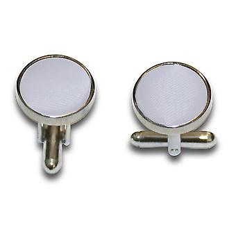 Silver Plain Satin Cufflinks