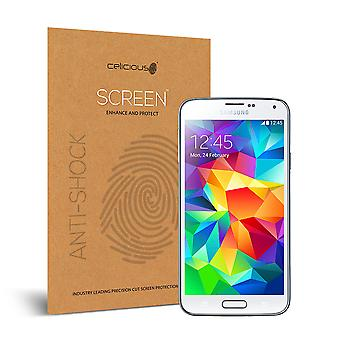 Celicious Impact Anti-Shock Shatterproof Screen Protector Film Compatible with Samsung Galaxy S5