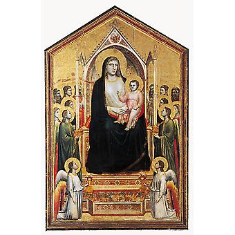 Enthroned Madonna with Saints, GIOTTO di Bondone, 40x60cm with tray