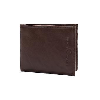 Luciano Barbera Club læder pung brun