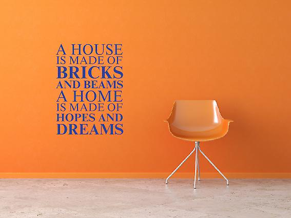 A house is made of Wall Art Sticker - Brilliant Blue