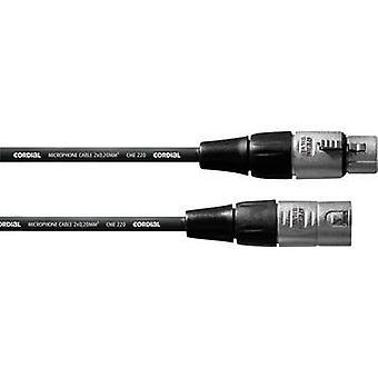 Herzliche CFM1FM XLR-Kabel [1 x XLR-Buchse - 1 X XLR Stecker] 1 m schwarz