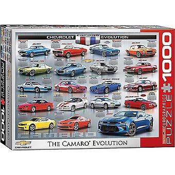 Chevrolet The Camaro Evolution 1000 Piece Jigsaw Puzzle 489Mm X 677Mm