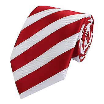 Schlips Krawatte Krawatten Binder 8cm rot weiß gestreift Fabio Farini