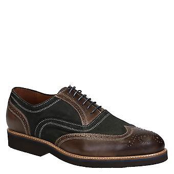 Zapatos Oxford hombres de en piel italiana 2 tonos