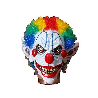 Sinister Mr Mister Horror Clown Killer Halloween Mens Costume Mask with Wig